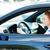 femme · conduite · voiture · trafic · règles · portrait - photo stock © ichiosea