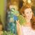 jonge · vrouw · eten · vers · ananas · voedsel · home - stockfoto © ichiosea