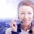 ügyfélszolgálat · headset · nő · felirat · ügyfélszolgálat · kezelő - stock fotó © ichiosea