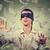 bekötött · szemű · férfi · zsákmány · dollár · bankjegyek · bankjegyek · repülés - stock fotó © ichiosea