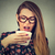 女性 · クローズアップ · 若い女性 · 鼻をかむ · 孤立した - ストックフォト © ichiosea