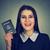 americano · passaporte · branco · Estados · Unidos · selar · embarque - foto stock © ichiosea