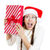 happy excited christmas woman holding a gift box stock photo © ichiosea