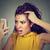 ongelukkig · ontdaan · vrouw · verwonderd · haren - stockfoto © ichiosea