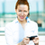 Business woman sending text message on phone stock photo © ichiosea