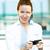 mujer · de · negocios · teléfono · primer · plano · retrato - foto stock © ichiosea
