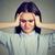 üzücü · genç · kadın · endişeli · yüz · aşağı · bakıyor - stok fotoğraf © ichiosea