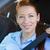 zakenvrouw · zitting · gordel · auto · vrouw · gelukkig - stockfoto © ichiosea