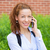 business woman on a phone outdoors stock photo © ichiosea
