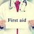 doctor hands holding white card sign with first aid text message stock photo © ichiosea