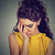 depressed sad woman leaning head on hand stock photo © ichiosea