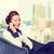 ビジネス女性 · 話し · 電話 · 写真 · 幸せ · 黄色 - ストックフォト © ichiosea