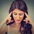 closeup portrait of a beautiful woman thinking human face expression stock photo © ichiosea