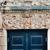 öreg · kék · ajtó · garázs · üres · utca - stock fotó © ifeelstock