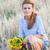 mulher · girassol · olhando · feliz - foto stock © igabriela