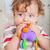baby · kauwen · speelgoed · zes · maand · geïsoleerd - stockfoto © igabriela