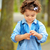 verlegen · meisje · portret · outdoor · park - stockfoto © igabriela