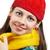 czerwony · hat · szalik · zimą · christmas - zdjęcia stock © igabriela