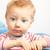 szomorú · kicsi · fiú · portré · szőke · baba - stock fotó © igabriela