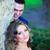 retrato · feliz · recém-casados · ao · ar · livre · edifício · noiva - foto stock © igabriela