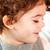 portré · mosolyog · egyéves · kislány · bent · baba - stock fotó © igabriela