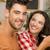 happy couple at the restaurant stock photo © iko