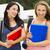 dos · hermosa · estudiantes · feliz · sonriendo - foto stock © iko