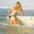gülen · sörfçü · tahta · plaj - stok fotoğraf © iko