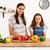 mamãe · filha · cozinhar · casa · cozinha · feliz - foto stock © iko