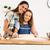 öğrenme · fırında · pişirmek · atış · anne · kız - stok fotoğraf © iko