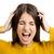 mérges · női · modell · kiabál · csalódott · nő - stock fotó © iko