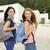 dos · hermosa · estudiantes · caminando · mirando - foto stock © iko