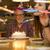 друзей · еды · именинный · торт · ресторан · женщину · кофе - Сток-фото © iko