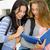 two beautiful teenage students stock photo © iko