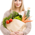 beautiful woman carrying vegetables stock photo © iko