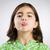 少女 · しかめっ面 · 舌 · 若い女の子 · 春 - ストックフォト © iko