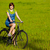 魅力的な女の子 · 自転車 · 魅力的な · 夢のような · 少女 · 座って - ストックフォト © iko