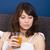 zdrowych · młoda · kobieta · pitnej · świeże · sok · pomarańczowy · biały - zdjęcia stock © iko