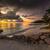 anse kerlan beach at the sunset stock photo © iko
