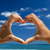 心臓の形態 · ビーチ · 赤 · 砂浜 · 愛 · 海 - ストックフォト © iko