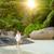 gyönyörű · szabad · nő · élvezi · egzotikus · tengerpart - stock fotó © iko