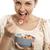 donne · mangiare · banana · frutta · rossetto · labbra - foto d'archivio © iko