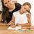 幸せ · 母親 · 支援 · 娘 · 宿題 · 女性 - ストックフォト © iko
