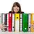 donna · cartelle · ufficio · business - foto d'archivio © iko