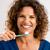 borstel · mijn · mooie · glimlach · rijpe · vrouw · vrouw - stockfoto © iko