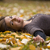 gülen · mutlu · kız · sonbahar · park · el · gülümseme - stok fotoğraf © iko