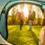 boldog · barátok · sátor · kempingezés · utazás · turizmus - stock fotó © iko