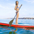 Woman practicing paddle stock photo © iko