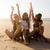 liefde · strand · drie · mooie · meisjes - stockfoto © iko