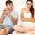alterar · Pareja · marital · problemas · cama - foto stock © iko